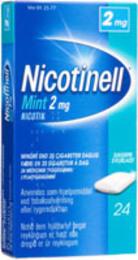 Nicotinell Mint-tyggegummi 2 mg 24 stk