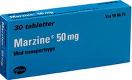 Marzine® 50 mg 30 tabl.