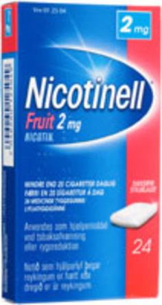 Nicotinell Fruit tyggegummi 2 mg 24 stk