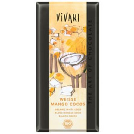 Vivani hvid mango kokos Ø chokolade 80 g