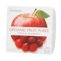 Frugtpuré æble, tranebær Ø 200 g