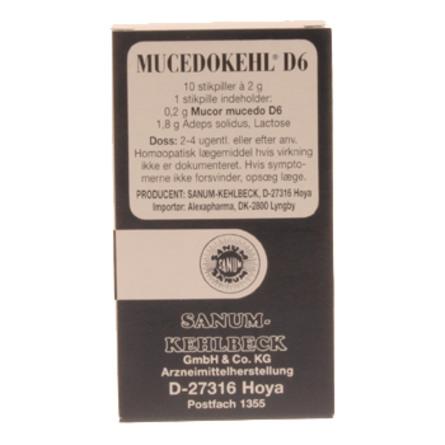 Mucedokehl stikpiller 10 stk.