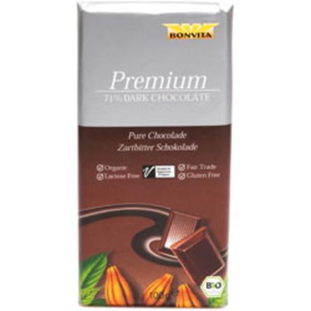 BonVita Chokolade mørk 71% cacao Ø Fairtrade 100 g