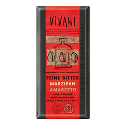 Vivani mørk marcipan Ø amaretto 100 g