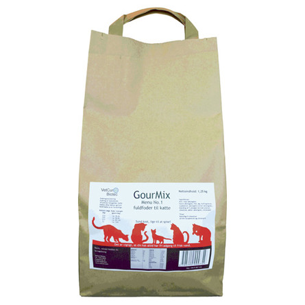 GourMix Kat menu 1 fuldfoder m. and, fisk 1250 g