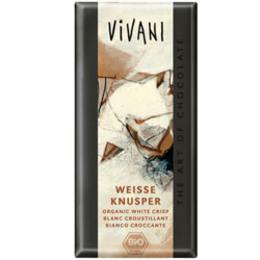 Vivani hvid chokolade m. crisp Ø 100 g