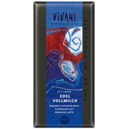 Vivani equador lys chokolade Ø 37% 100 g