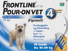 Frontline Pour-on Vet. 10-20 kg 4 x 1,34 ml