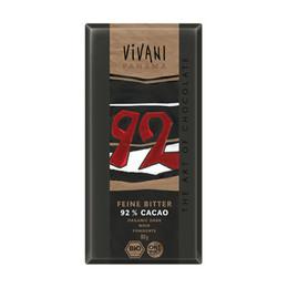 Vivani ekstra mørk chokolade 92% kakao Øko 100 gr.