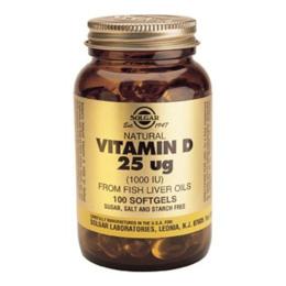 D3-vitamin 25 mcg softgel (1000 i.u.) 100 kap