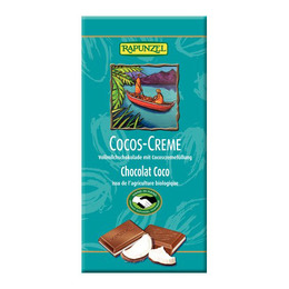 Chokolade m. kokoscreme Ø Rapunzel 100 g