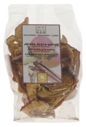 Æblechips m. kanel Ø 75 g
