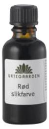 Urtegaarden Rød slikfarve 10 ml