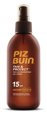 Piz Buin Tan & Protect Oil Spray SPF 15, 150 ml