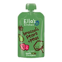 Babymos broccoli,pære & ærter 4 mdr Ø Ella 120 g