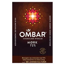 Raw chokolade 72 % Ombar Ø 35 g
