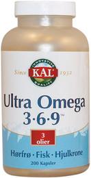 KAL Ultra Omega 3-6-9 200 kapsler