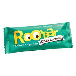 ROO'bar Roobar Chia Coconut 30 g - øko