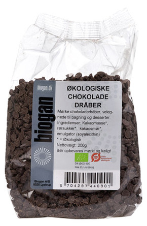Chokoladedråber Ø 200 g