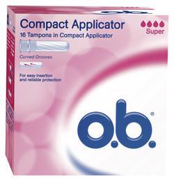 O.B. o.b. ProComfort tampon m/applikator - Super 16stk.