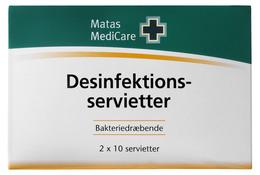 Matas Medicare Desinfektionsservietter 20 stk.