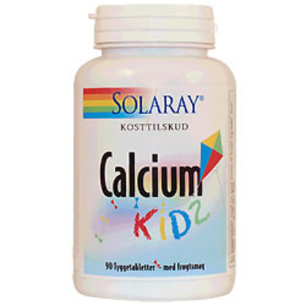 Calcium Kids tygge m.10 mcg D frugtsmag 90 tab