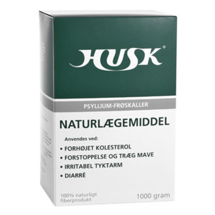 HUSK Husk Psyllium-frøskaller 1000 g
