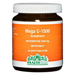 Mega C 1500 mg HealthCare 30 tab