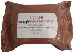 Allison Ansigtsrenseservietter Arganoil 25 stk.