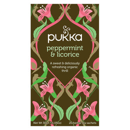 Pukka Peppermint & Licorice te Ø 20 breve