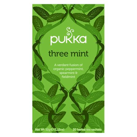 Pukka Three Mint te - øko 20 breve