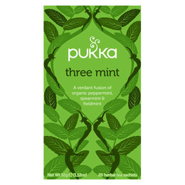 Pukka Three Mint te - øko 20 breve