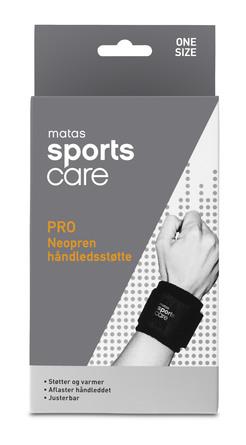 Matas Sports Care PRO Neopren Håndledsstøtte One Size