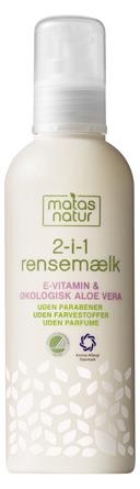 Matas Natur Aloe Vera & E-vitamin 2- i-1 Rensemælk 200 ml