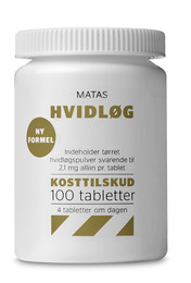 Matas Striber Matas Hvidløg 100 tabl.