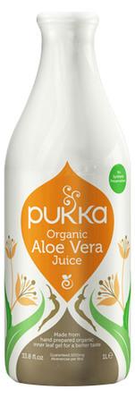 Aloe vera juice Ø Pukka Koldpresset - ikke f 1 l
