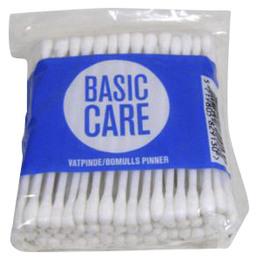 Basic Care Vatpinde m/plastpind 100 stk