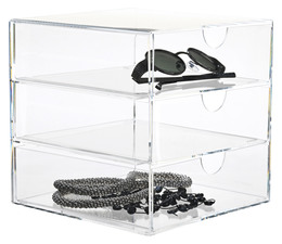 Nomess Clear 3-drawer 20