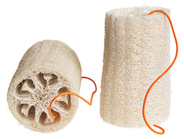 Nomess Loofah Sponge - Natural/White (2 pcs.)