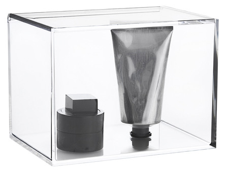 Nomess Clear box with lid, tall