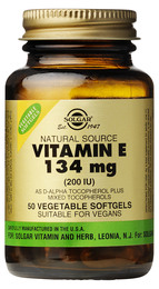 E-Vitamin 134 mg Vegetabilsk softgel 50 kap