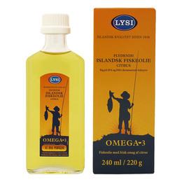Islandsk fiskeolie citrus Omega 3 Lysi 240 ml