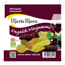 Hjertebjørn Engelsk Vingummi Øko 100 gr.
