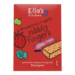 Babykiks jordbær & æble 12 mdr Ø Ellas Kit 125 g