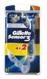 Gillette Sensor 3 engangsskraber 4+2 stk.