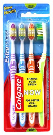 Colgate Tandbørste Extra Clean Medium 4-pk