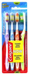 Colgate Tandbørste Extra Clean medium 4-pak