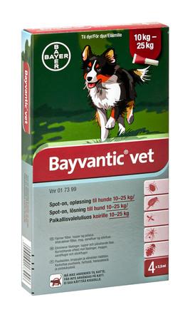 bayvantic vet til hunde 10 25 kg. Black Bedroom Furniture Sets. Home Design Ideas