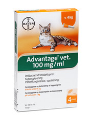 Advantage Vet Advantage vet. til katte under 4 kg