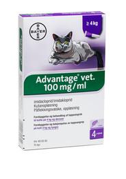 Advantage vet. til katte på 4 kg og derover